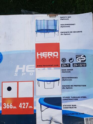 Fishbone-bez-mana - Srbija: Ograda za trambolinu prečnika 3.66 bez tramboline u izuzetnom stanju