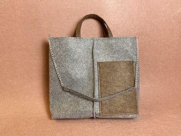 Современные сумки из войлока