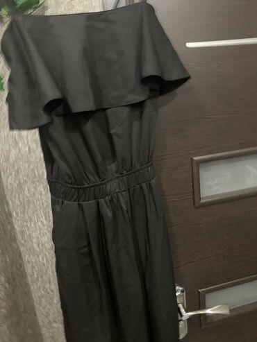 Комбенизон новый, на лямках, 2 кармана по штанине серебристый