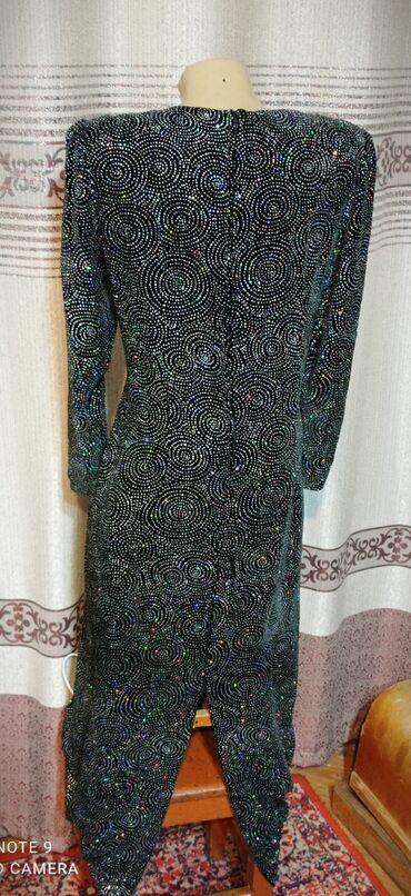 Бюстгальтер со стразами - Кыргызстан: 46-48р. вечернее платье в пол, сзади длинная молния и шлица