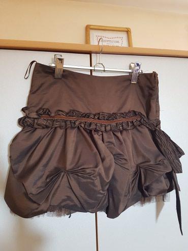 Zenski stofani vuneni mantic tsmno braon - Srbija: SNIZENO Suknja braon