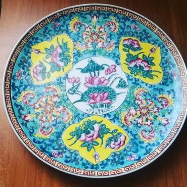 Bakı şəhərində Boşqab.dekorativ Yapon istehsalı.farfordan.50 ilindir.ciddi olan