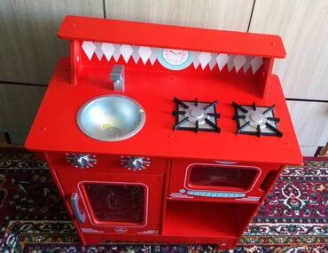 Детский мир - Байтик: Деревянная игрушка газ плита для девочек. Длина 65см ширина 35см и