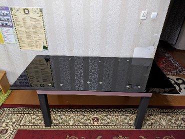 стол стеклянный в Кыргызстан: Стол стеклянный закалённый.Высокого качества.механизм авто раздвижная