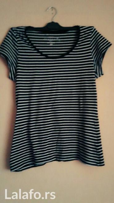H&m zenska majica od organskog pamuka vel m,i u crnoj i beloj boj - Kanjiza