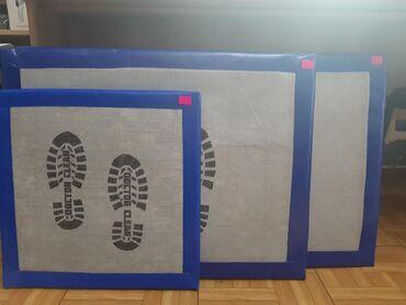 Дезинфекцирующие коврики размеры 50х50, 60х80- 1800, 60х100. Так же в