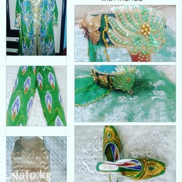 Свадебные платья - Токмак: Нац.узб.платье адрас  размер на 46-48. Состояние идеальное