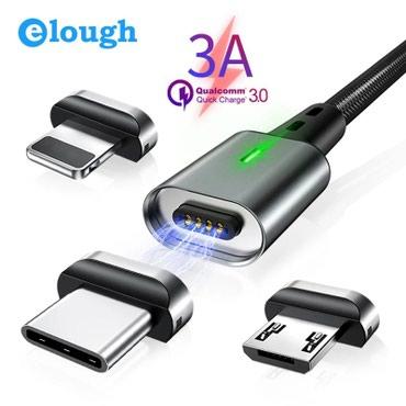 Elough 3А Магнитный Micro USB кабель для iPhone в Bakı