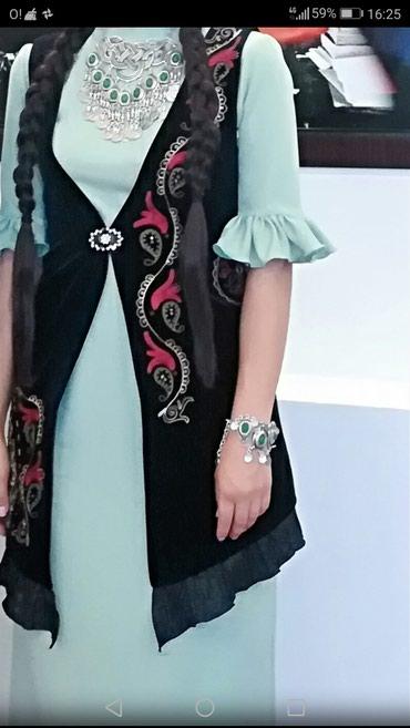 длинное платье карандаш в Кыргызстан: Жилет + длинное платье