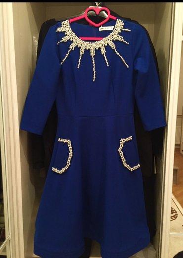 Bakı şəhərində платье размер s, один раз надевали, вышито жемчугом