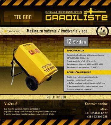 Masina za susenje / isusivanje vlage 120l/24h Trotec TTK 600 - Vrsac
