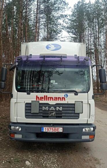 продажа рефрижераторов бу в Кыргызстан: MAN TGL 8 - ?.в механика обьем 4.5, дизель 6 ступ горные тормоза