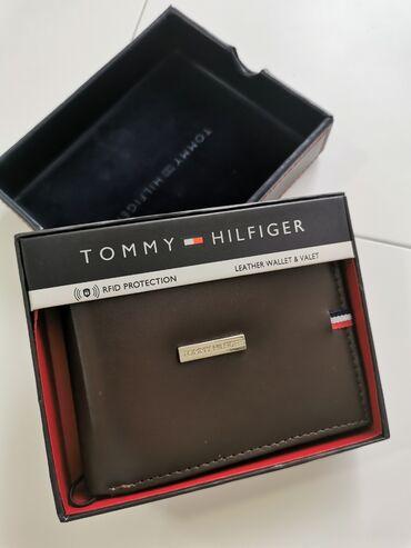 Kozni novcanici - Srbija: Tommy Hilfiger muski kozni novcanik tamno braon 1Nov, original, donet
