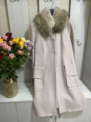 радиаторы отопления цена за секцию in Кыргызстан | ОТОПЛЕНИЕ И НАГРЕВАТЕЛИ: Бежевое новое пальто со съемным мехом. Размер 38  Пальто тёплое леопар