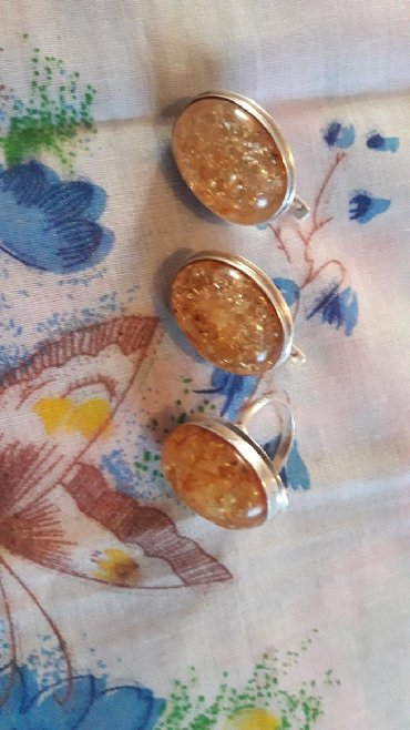 Украшения в Сокулук: #Абсолютно новый комплект# Продаю серьги + кольцо комплект серебро 92