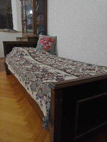 деревянная мозаика в Азербайджан: Болгарская кровать с матрацом, деревянная