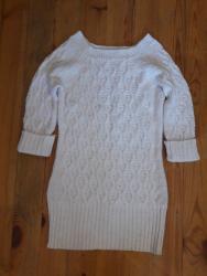 женские-белые-свитера в Азербайджан: 38 40 razmer Ag toxunma tunika caket 2 defe geylib tezedi eyinde cox g