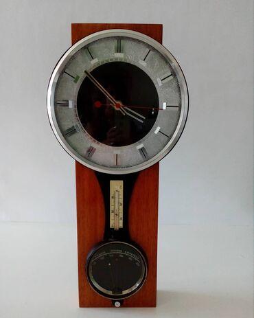 "| Ağsu: Часы""Маяк""СССР,с барометром и термометром"