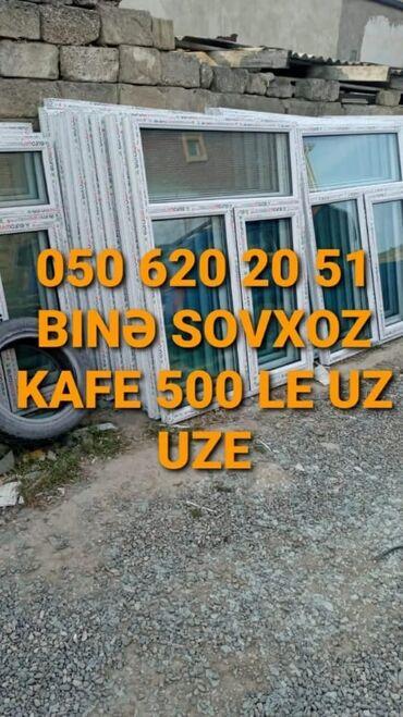 Xidmətlər - Azərbaycan: 120*154=95 manat 1 ədədi təzə plastik pəncərə Binə sovxoz