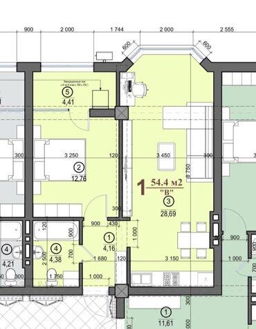 Продается квартира: Элитка, Ошский рынок, 2 комнаты, 54 кв. м