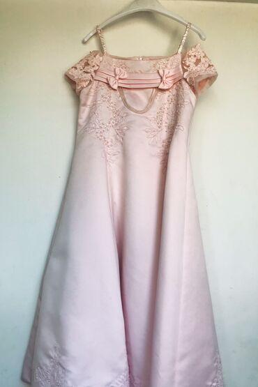Продаю нарядное платье розового цвета.В хорошем состоянии.Примерно 7-9
