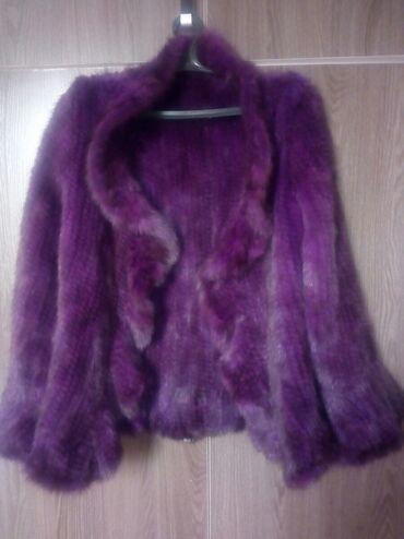 Норка связанная привезли с Турции цвет красивый фиолетовый размер 44 4