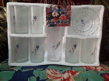 Набор стаканов,вазы и пепельницы в Ош