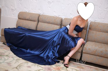 турецкие платья со стразами в Кыргызстан: Платье нарядное шикарное, цвет-электрик синий, материал качественный а