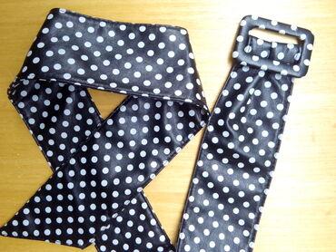 Duzina cm crni - Srbija: Crni kaiš sa belim tufnicama,duzine 106 cm