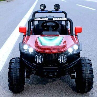 Dečiji električni automobili - Srbija: Jepp 4x4 ‼PONOVO DOSTUPAN‼Do 40kg4 pogonaGumeni tockoviKozno sediste