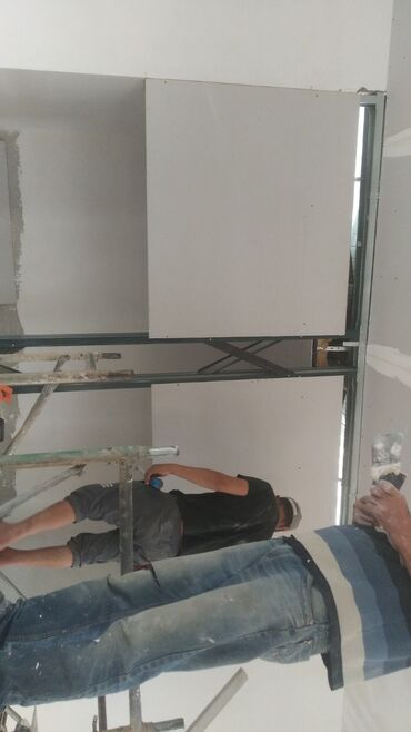 кафель работа цена in Кыргызстан | ОТДЕЛОЧНЫЕ РАБОТЫ: Всем Салам алейкум. все обделочные работы . гипсокартон, шпаклёвка