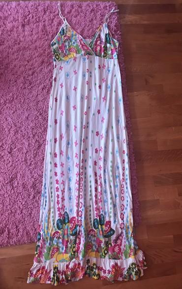 Dugacka cvetna letnja haljina, dosta placena...Cena samo 1600 dinara - Novi Sad