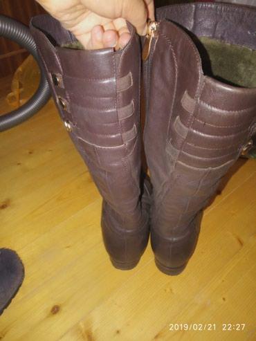 Женские сапоги кожаные,мех в Сокулук