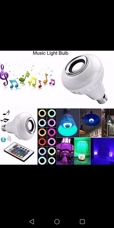 Kola - Srbija: LED Bluetooth Muzička Sijalica-Zvučnik sa daljinskim1,500rsdRGB LED