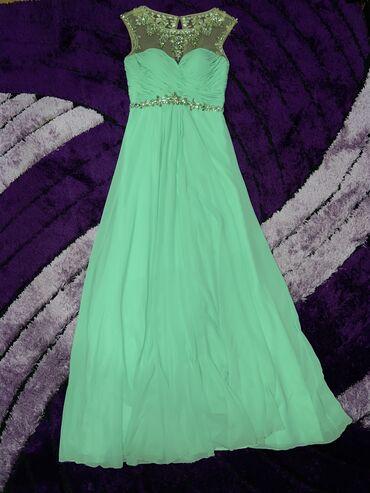 Skupocena tirkizna haljina, dobila sam je na poklonu ali mi je mala