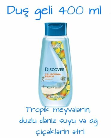 400 ml duş geli 4.50azn endirimdə sumqayitda istənilən yerə catdirilma