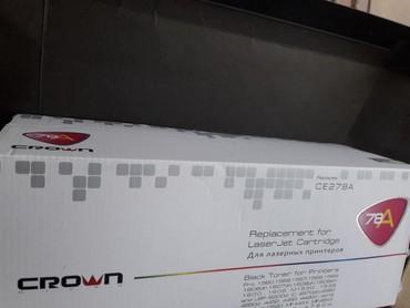 kartric - Azərbaycan: Kartric 78A. Yeni. CROWN Laser jet Cartridge