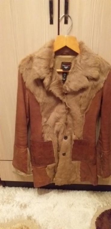 шубу и полушубок в Кыргызстан: Кожаный женский полушубок 44 размер