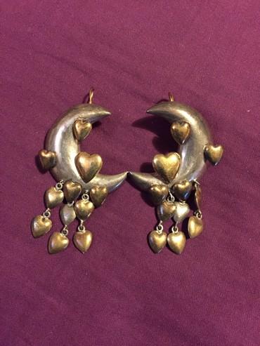 Ασημένια κρεμαστά σκουλαρίκια με σε Rest of Attica