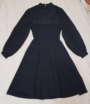 Вечернее платье. Идеальная посадка. Размер 36. S. Рукава плиссе. Очень