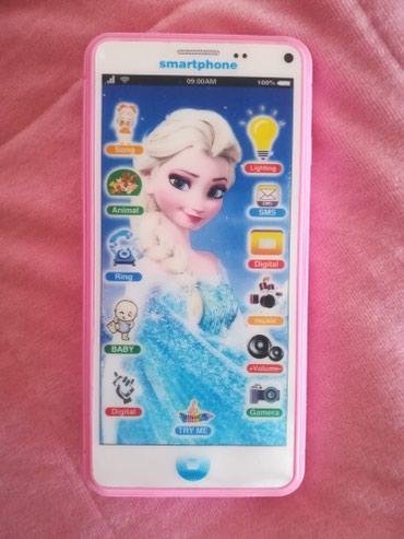 Frozen-kompleticine - Srbija: Frozen Elza telefon, sa baterijama, zvoni razlicite melodije, kao nov