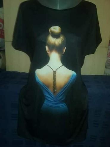 Nova haljina  sa cirkonima.može i kao tunika . mokra likra . uni vel. - Leskovac