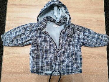 Amisu karirane bermude - Srbija: Karirana jaknica, za uzrast 9-12 meseci, postavljena, kapuljača se