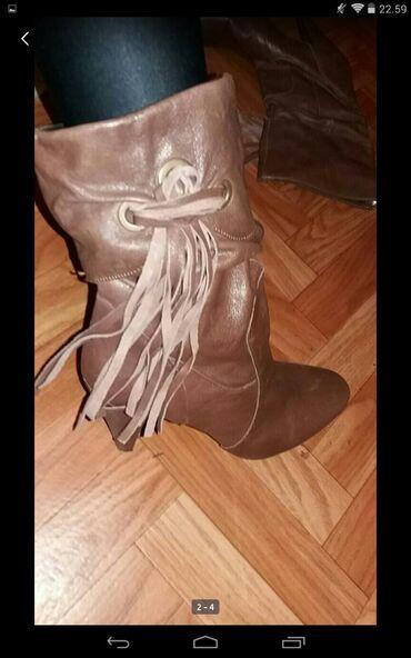 Personalni proizvodi | Obrenovac: Italijanske kožne čizme broj 41 ali odgovaraju broju 40.Obuvene dva