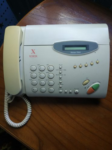 Телефон-флай-fs407 - Кыргызстан: Продам факс Xerox 350 сом. Скорее всего на з/части