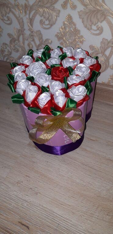 Алам - Кыргызстан: Лента менен жасалган розалар  Заказ алам