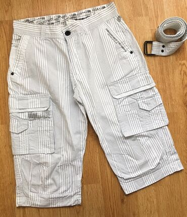 Muške Pantalone | Bor: Potpuno nove muške bermude, L veličina, kaiš ide uz njih. Zemlja