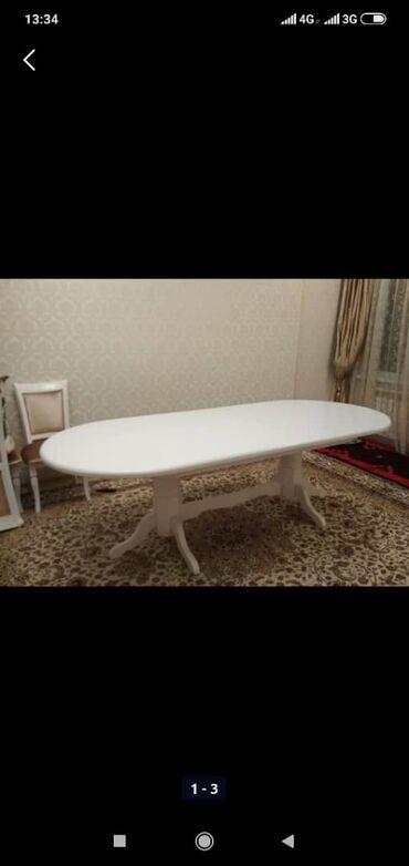 стулья для гостинной недорого в Кыргызстан: Продается стол обеденный для зала, размеры 2 метра в укороченном виде