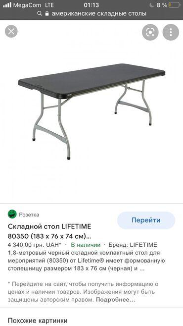Продаю 2 комплекта стальных складных столов со стульями. В каждом ком