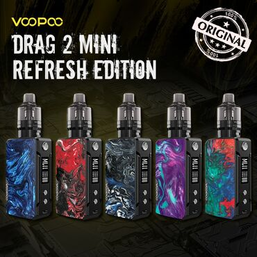 mini stiralnaya mashina в Кыргызстан: Vape! НОВИНКА! В НАЛИЧИИ!Voopoo Drag Mini Refresh